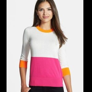 Kate Spade ♠️ color dip crew neck sweater L